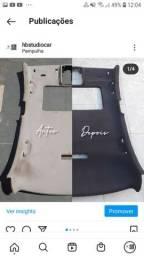 Troca do tecido do forro de teto descolando ou mudança de cor all black teto preto