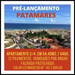 Lançamento em Patamares, 2 Quartos 54,45m², 1 vaga