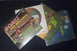 4 LPs de Futebol - Raridade com brinde de foto da época