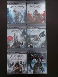 Coleção de jogos Assassin's Creed PS3