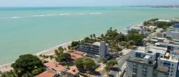 Apt. com 1 quarto pé na areia, com varanda e vista definitiva para o mar do Caribessa