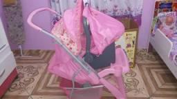 Carrinho com bebê conforto comprar usado  Rio de Janeiro