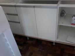 Armário de cozinha e aéreo branco de 1,20 cm