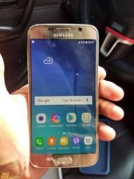 Galaxy S6 flat dourado