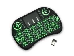 Mini teclado com mouse sem fio Smart TV