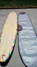 Prancha longboard com capa