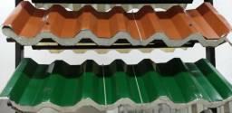 Telhas Termo-acústicas de Galvalume ou de Alumínio a partir de 121,06/m2