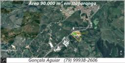 Área medindo 30 tarefas na BR-101, em Itaporanga D'Ajuda