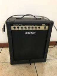 Caixa acústica Suzuki 45 watts para contrabaixo e guitarra