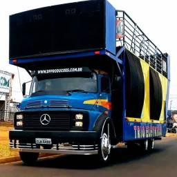Trio elétrico truck Mercedes