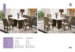 Mesa de Jantar Vigo com 4 Cadeira Athenas ou 4 Cadeira Ravenna