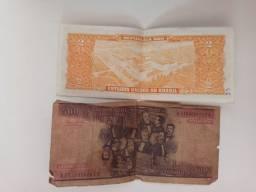 Notas antigas dinheiro
