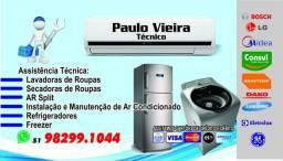 Conserto de máquinas lavar, instalação e manutenção split serviço com garantia