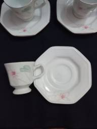 Título do anúncio: Conjunto de porcelana Schmidt para cafezinho.<br>