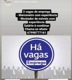 Título do anúncio: Vagas de emprego; MARCENEIRO E MONTADOR