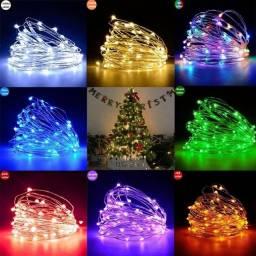Título do anúncio: Cordão com 100 Luz Led 10m USB, Fio De Fadas,prova de água Várias cores,NOVO/ACEITO TROCAS