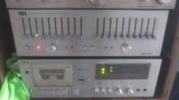Som modular antigo e top receiver SONY