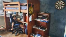 Móvel para quarto em madeira maciça