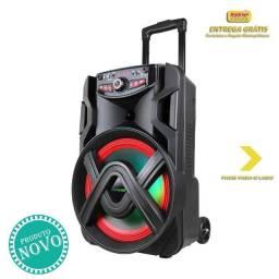 Caixa de Som Amplificada ACA 401 Tsunami 400W com Bluetooth e USB Preto - Bivolt - Amvox