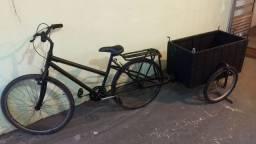 Bicicleta com carretinha