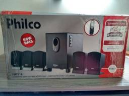 Vendo Caixas Acústicas Philco 5.1 Canais c/ Subwoofer - 180,00