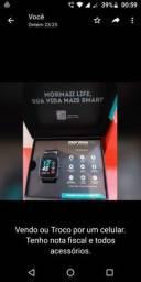 Vendo ou troco celular Smartwatch. Tenho nota fiscal e todos os acessóios