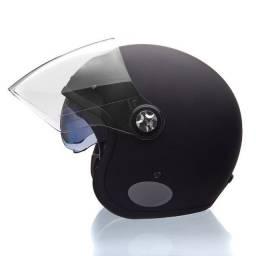 Título do anúncio: Capacete Lucca Galaxy Matt Black (c/ viseira Retrátil e Bubble Cristal)