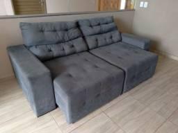 Sofa Retratil Cinza (Votuporanga)