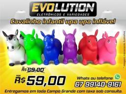 Título do anúncio: Cavalinho Upa Upa Pula Pula Inflavel varias cores Aproveite