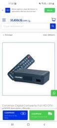 kit completo para conversão para sinal digital de TV.