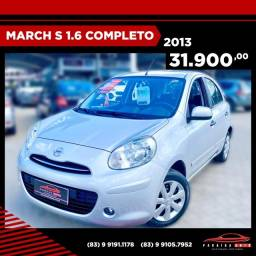 Nissan March S 1.6 - 2013 Completo ( Paraíba Auto )