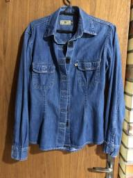Título do anúncio: Blusa Jeans tam M em santa cruz do sul