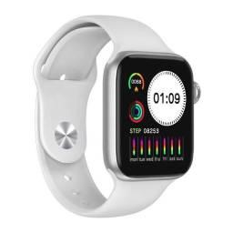 Smartwatch T500 com sensor de monitor cardíaco pressão sanguínea, monitor de passos