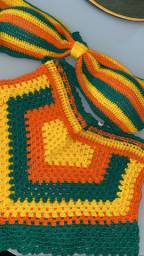 Título do anúncio: Conjunto de crochê, nunca usado!