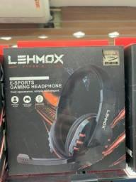 HeadPhone Para game Lehmox LEF-1020 Fone de Ouvido E-Sports Recarregavel HeadSet com fio