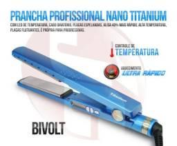 """Chapinha Nano Titanium """"Esquenta em 10 Segundos"""" azul e ROSA - 98113-4393"""