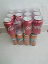 Refrigerantes. Tauá 2L coca e Fanta latinhas
