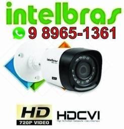 Kit segurança 4 cameras intelbras ja instalado 98965-1361