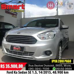 Smart Veículos - Ford Ka Sedan SE 1.5, 14/2015, 48.900 km - 2015