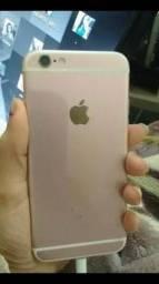 Troco iPhone 6s rose tela trincada