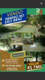 Vendo Terreno no São Braz com igarapé