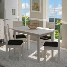 Mesa de 4 Cadeira Para Cozinha - Direto da Fabrica