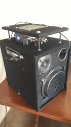 Caixa de som completa /modulo taramps/cd pioneer usb/parcelo no cartão