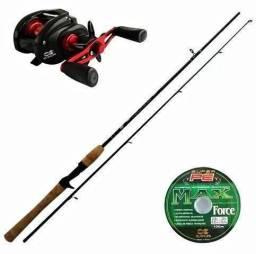 Usado, Kit pesca carretilha maruri montana 10 rolamentos+vara 17lbs+linha 0,30 com 100mts-produto comprar usado  Curitiba