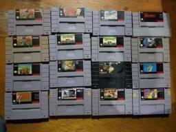 Jogos Super Nintendo (comprando 2 leva +1 de brinde)