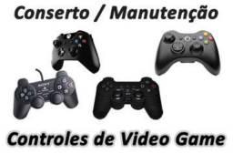 Manutençao em controles video games em contagem = loja infor games