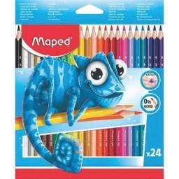 Lápis de cor Maped c/24 cores Pulse Resina