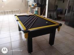 Mesa Tentação Pgto na Entrega Cor Tabaco Tecido Preto e Borda Amarela IEZ93