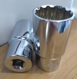 Soquete Estriado Longo Aço Cromo Vanadium