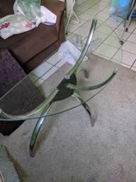 Mesa de canto de vidro